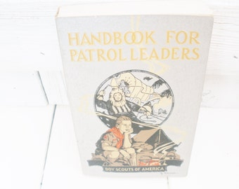 Vintage Boy Scout Handbook for Patrol Leaders 1942- free shipping US