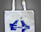 Bridge Tote Bag, Bike Bag, Portland Oregon, Portland Bridges, Burnside Bridge