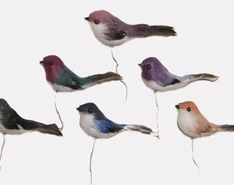 24 pc 2 Inch Feather Craft Bird Arlene