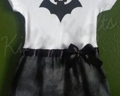 Mickey Mouse Bat inspired baby girl outfit Halloween Vampire Mickey