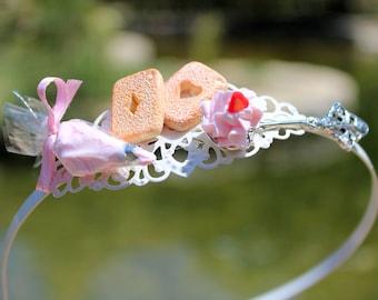 Alice in wonderland Headband - Sweet Lolita accessories - Kawaii Headband - Sweet Headband - Miniature Food Accessories