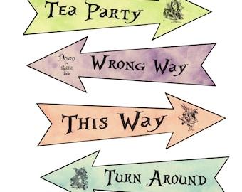 Alice in Wonderland 4 party arrows pastel grunge
