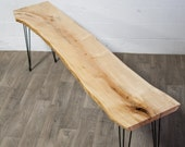 NEW: LONG - Live Edge Maple CONSOLE Table - Wood - Natural - Modern