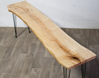 YOUR CUSTOM  Live Edge Maple CONSOLE Table - Wood - Natural - Modern