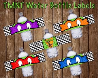 Turtle Water Bottle Labels
