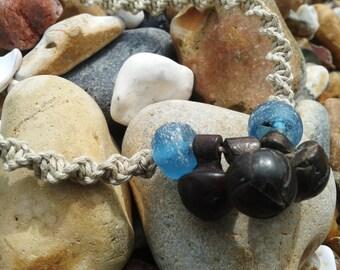 Men's necklace, Talisman necklace, unisex necklace, Hemp necklace, macrame