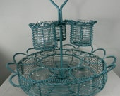 Vintage Tiered Metal Candle Holder Iron Centerpiece Candle Holder Patio Candle Holder