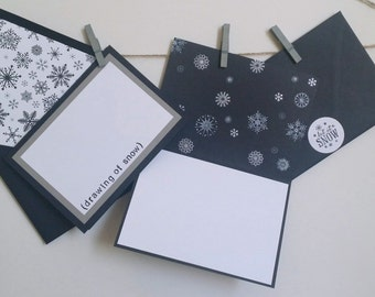 Holiday Card Set - Snowflake Holiday Card Set - Non-Religious Holiday Cards - Set of 10