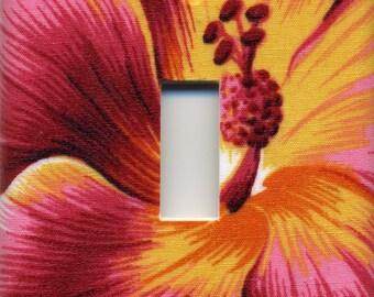 Hawaii Hibiscus Flower Single Light Switch Plate