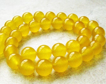 10mm Yellow Candy Jade - 1 strand