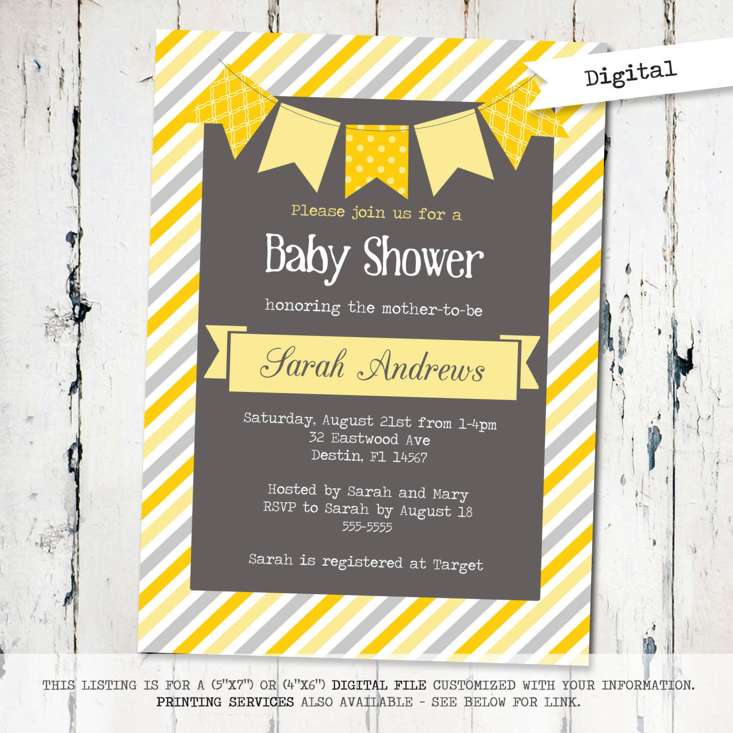 gender neutral baby shower invitation modern baby shower