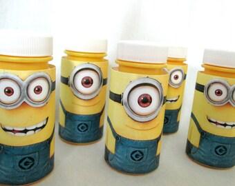 Minions Favors Minion Party Favors Bubble Favors Minion Bottle Labels Minion Twinkie Covers Minion Decoration Minion Bubbles Minion Gift