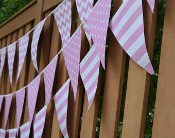 Bunting Banner Chevron Bunting Stripe Bunting Polka Dot Bunting Birthday Banner Baby Shower Banner Bridal Shower Banner Birthday Bunting