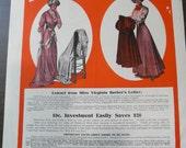 1909 McCalls Magazine Cover Diamond Dyes Victorian Advertisement Early 1900s Original Ad Dress Thanksgiving Pilgrim Shabby Chic Ephemera