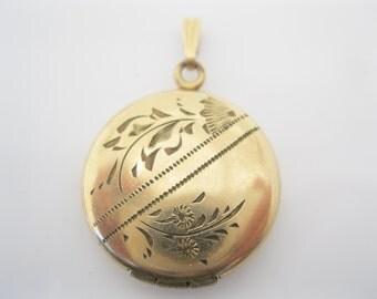 Antique goldfill locket