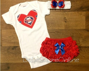 Phillies Outfit and Headband