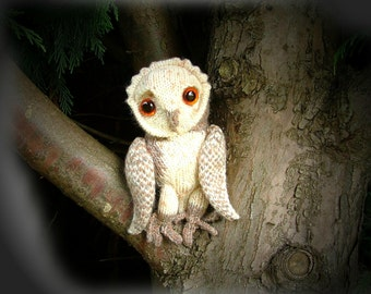 BARN OWL toy knitting pattern by Georgina Manvell pdf download