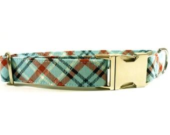 Dog Collar, PLAID Dog Collar, Handmade Dog Collar