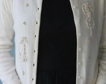 Sweet Ivory Vintage Cardigan