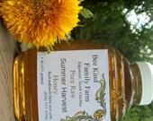 Pure Raw Honey  Summer Harvest16 oz jar (1 lb)