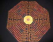 Fall Forest Labyrinth Quilt—FREE SHIPPING USA