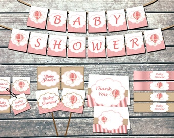 Elephant baby shower decorations package by for Baby shower decoration packages