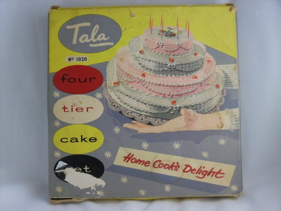 4 tier wedding cake pan sizes wedding baking pans vintage 1950 s tala 4 tier cake pan 10401