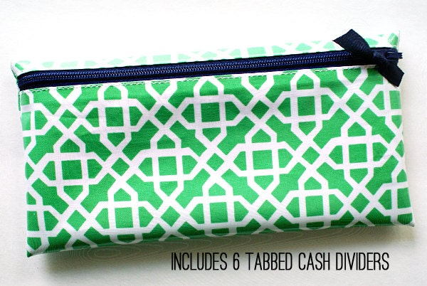 budget organizer wallet with 6 tabbed dividers by atime4everything