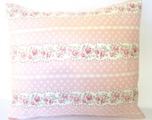Shabby Chic rose  and Pink Pillow cover/ 16 X 16 pillow cover 18 X 18 Pillow covers
