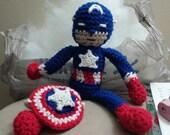 Crocheted Captain America Doll