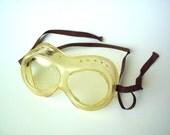 Vintage Cesco Clear Plastic Protective Goggles, Motorcycle Eyewear