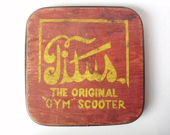 Vintage Titus Original Gym Scooter Seat (No Wheels)