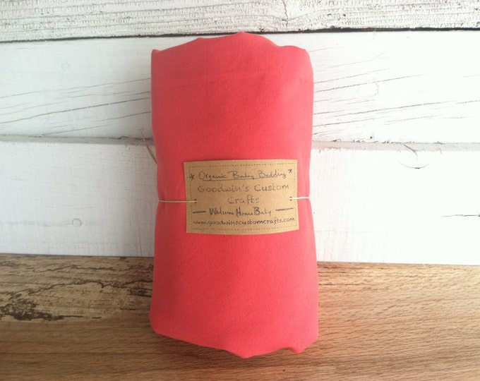 Organic Baby Bedding, Crib Sheet, Changing Pad Cover - Hand Dyed Wild Child Red