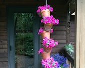 Hanging Planter Vertical Garden - 6 Pot Vertical Garden for Hanging Colorful Plants or Herbs