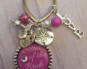 Maid of Honor Gift / Turquoise / Sister Of The Bride / Wedding Keychain / Thank You Gift / Wedding Jewelry / Bridesmaid / Save The Date //
