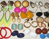 20 pair Vintage Clip earrings
