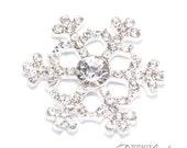 25pcs Bling Snowflakes, Wholesale Crystal Rhinestone Snow Flakes Winter Wedding DIY Supplies Diamante Jewel Snowflakes, Flat Back 543-S