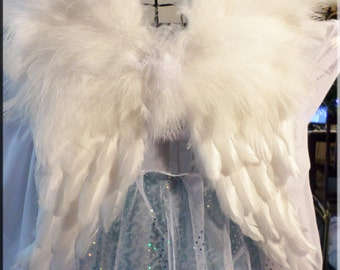 SALE! Angel Wings Baby Toddler Child Adult Wedding Flower Girl Pageant Photo Prop Fully Posable Wings Ivory/White/Pink/Blue/Black HALLOWEEN