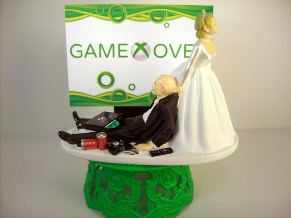 funny wedding cake toppers xbox wedding cake topper bald custom by 14610