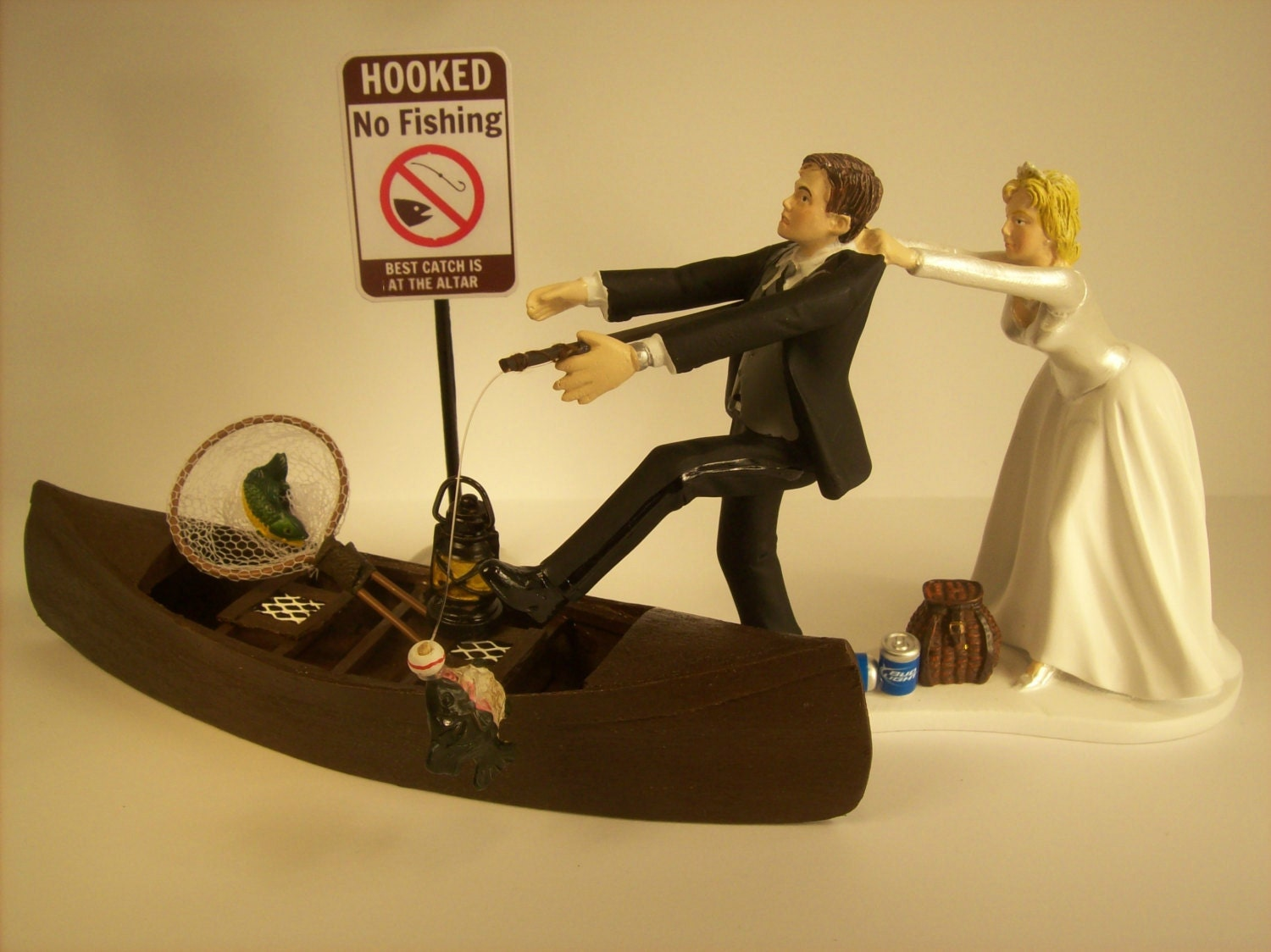 boat wedding cake topper no fishing come back wedding cake topper w boat 1991