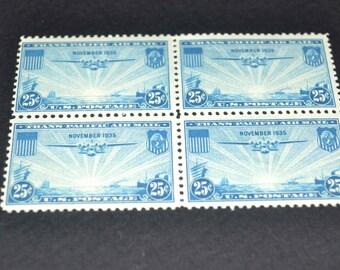 US airmail mint 1935 unused rare block of 4 C20