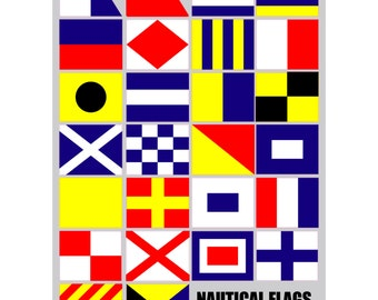 Nautical Flag Sticker Collection 26 Stickers Decals