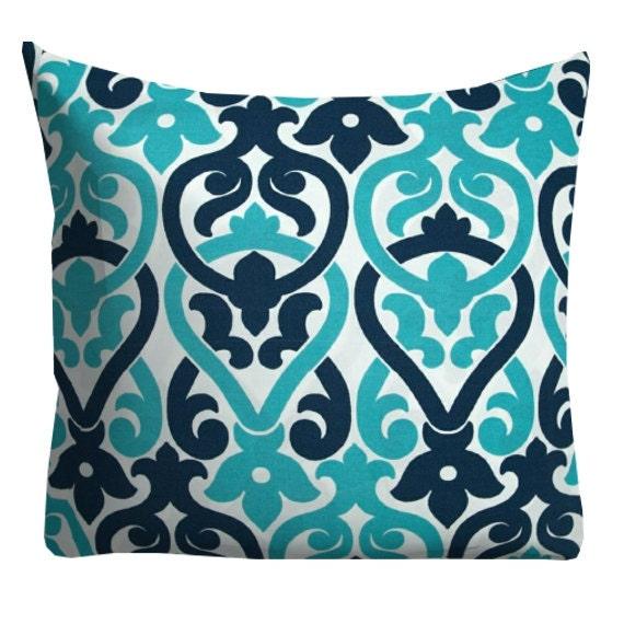 Turquoise Navy Outdoor Pillows Outdoor Throw Pillows Patio