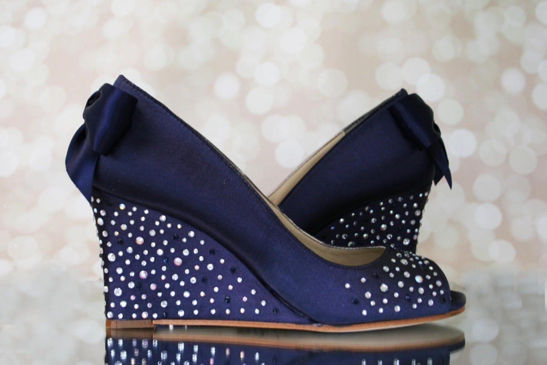 Wedge Wedding Shoes Something Blue Something Blue Wedding