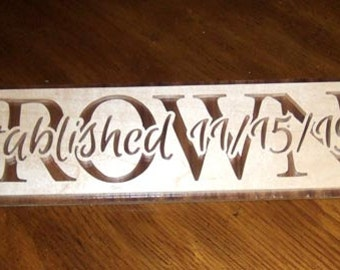 Established Sign - Wedding Anniversary Sign - Wedding Gift