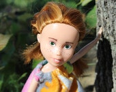 Samantha (Sam) - light brown hair, green eyed upcycled, under made doll