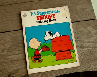Vintage SNOOPY Coloring Book - not colored