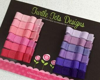 Pink Purple Hair Clip, Tuxedo Hair Bow, Pink Hair Bows, Purple Hair Bows, Babies Toddler Girls Women