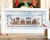 Gingerbread Train Cross Stitch Pattern Design Christmas Cross Stitching Shannon Wasilieff Village Street Sweets World of Cross Stitching 223