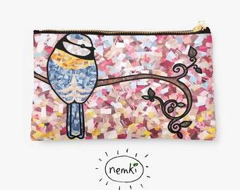 Pretty Bluebird, Bird Zip Pouch, Bluebird Makeup Bag, Cute Bluebirds, Bluebird Gifts, Bluebird Pencil Case, Bluebird, Bluebird Lovers